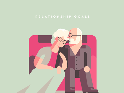 Relationship Goals dress lighting shapes simple people character glasses loveseat love seat couch in love relationship goals relationship love old man old lady grandparents grandma old