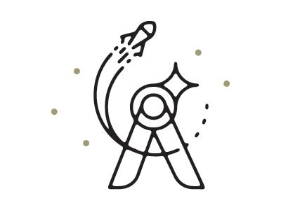 An asterism logo mark