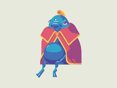 King Zora sad face cloak water spirit fish king character art shading shapes lines retro gaming nintendo 64 nintendo n64 video game link zora king zora ocarina of time zelda
