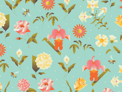 Mother's Day Flowers gradients church event church plants leaves mothers day flowers wild flowers honey bee bee pattern floral pattern floral flowers moms mothers day