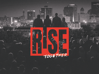 Rise Together hidden meaning ohio dayton be the change change dark grayscale red and black red marker revolution brand logo