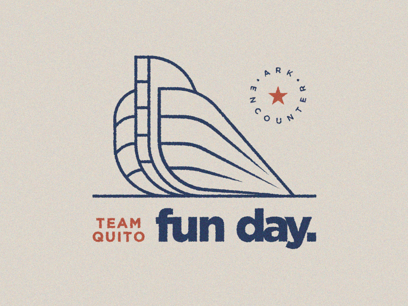 Ark Fun Day church marketing student ministry students clean layout layout white space texture simple lines start retro vibes vintage art day trip noahs ark ark encounter card direct mail invitation invite postcard
