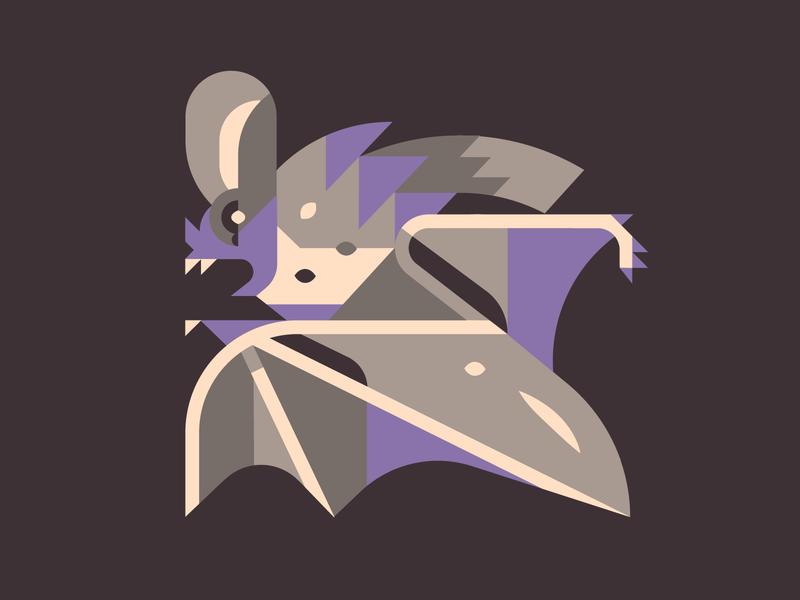 Bat trick or treat spooky scary dark night fruit bat rat with wings rat animal playlist halloween ear batman shapes simple clean vector illustrator illustraion bat
