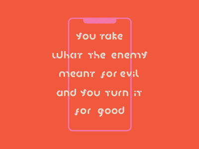 For Good color bright fun simple clean modern art orange pink lines shapes techno technology instagram social app social media iphone phone type quote typography
