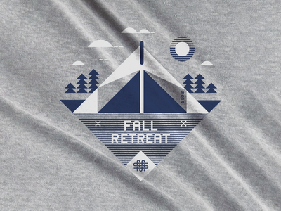 Retreat Shirt students youth kids fun modern clean simple trees tent retreat summer camp camp shirt camp fall retreat middle school