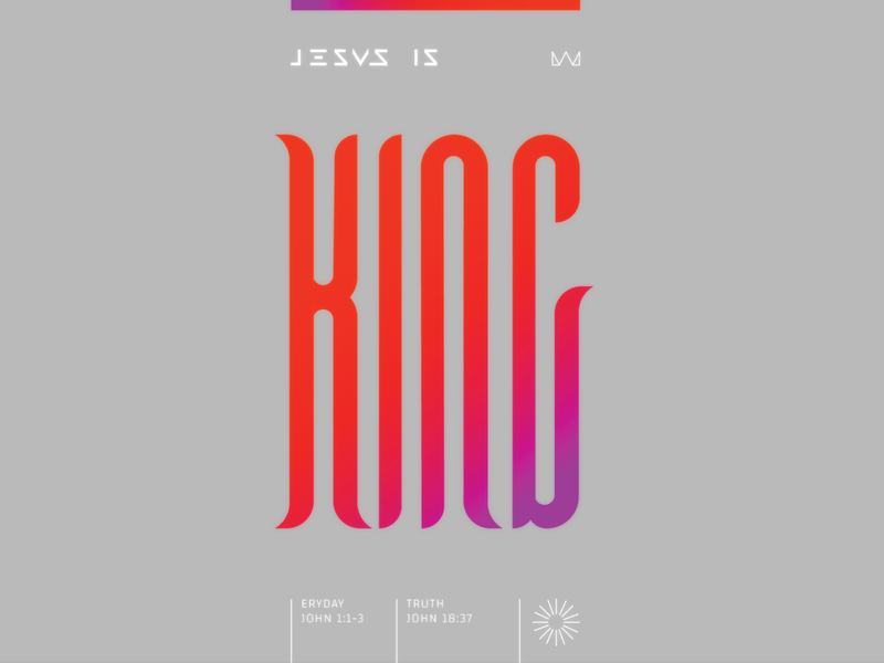 Jesus Is King jesus king crown mark logo branding mockup packaging design layout typography art hip hop rap crazy gradients vhs game 80s retro vitnge typography