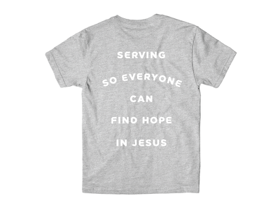 Serve Shirt church t-shirt serving hope find hope typogrpahy lettering shirt