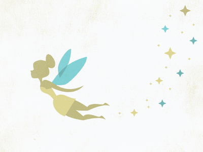 Pixie Dust pixie tinkerbell vintage texture simple peter pan