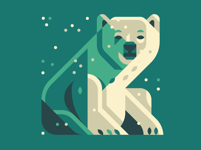 Snow Bear endangeredspecies animal paws bears eyes north pole winter snow sitting sad face illustrtion clean design simple shapes bear wwf eco plastic or planet polarbear