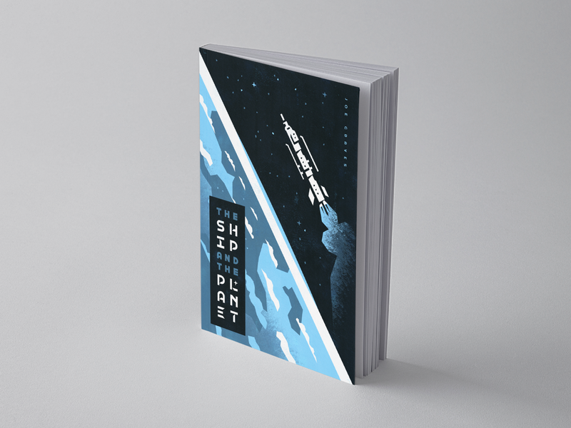 The Ship & The Planet - 1/4 nasa clouds illustration ilustrator science fiction author stars view galaxy earth typography type title layout cover book book cover space planet