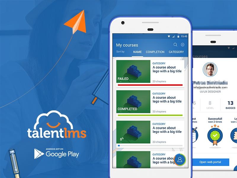 Talentlms android app by surfy the robot dribbble dribbble - Funformobile com login ...