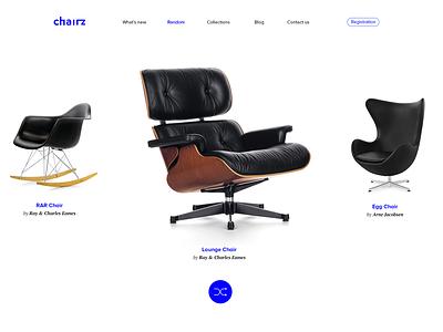 Randomizer concept animation store furniture application web tubik ux ui concept random