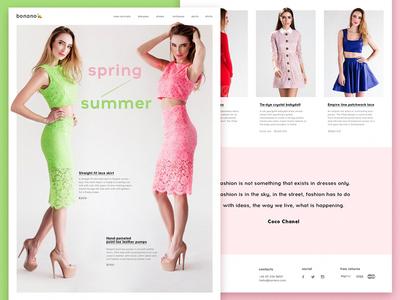 Bonano e-commerce  e-commerce animation flat tubik fashion web ux ui