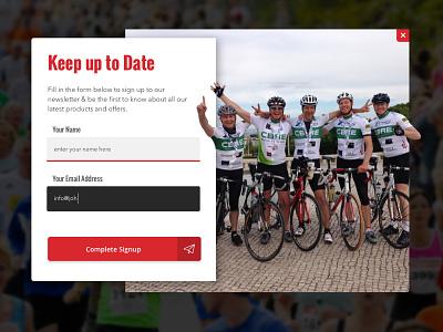 Signup Popout modal widget web interface ui newsletter signup button input popup form