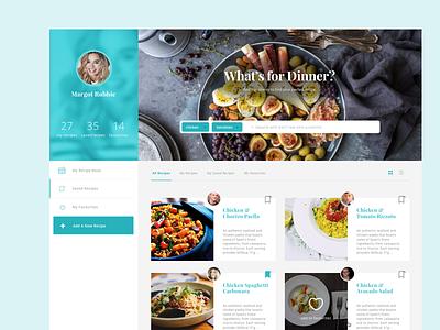 NET Magazine Design challenge clean recipe cooking social app light design web card ui food