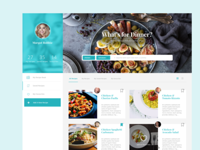 NET Magazine Design challenge clean recipe cooking social app light design web card ui food