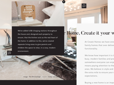 New Project icon white gold black tooltip popup modal typography home property web design