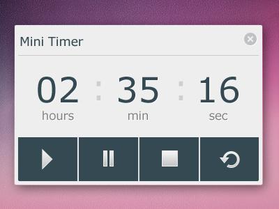 Minimal timer