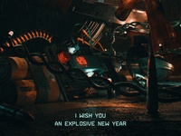Explosive new year — Poster