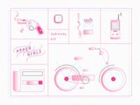 Paper girls Survival Kit ( gradient / noise / wave )