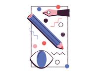 skill : illustration portfolio 80's WIP