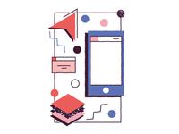 skill : graphic design portfolio 80's WIP (bis)