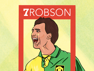 7. Robson process soccer procreate app bryan robson manchester united footballer football drawing procreate flat design illustration