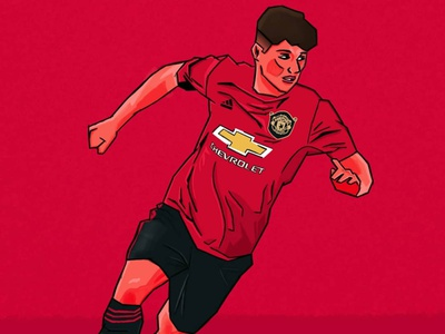 Dan James Illustration drawing procreate app procreate manchester united soccer footballer football design illustration