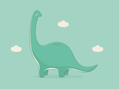 Cute dinosaur  green cloud cute dinosaur brachiosaurus