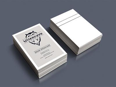 Uilenrave businesscard business card card business flat