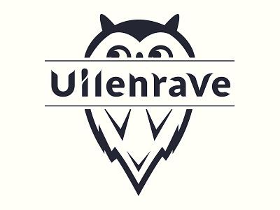 Uilenrave logo design owl logo flat