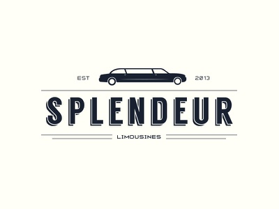 Splendeur limousines logo old splendeur design logo vintage retro flat limousine