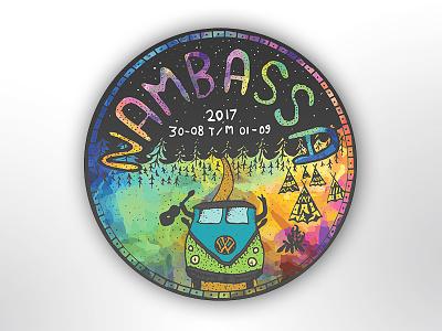 Nambassa Sticker festival hippy camp introduction design color sticker nambassa