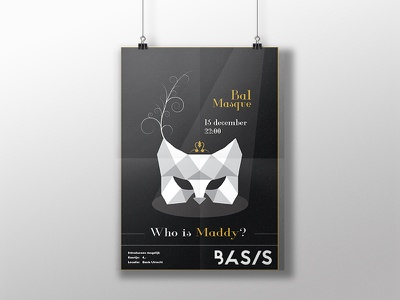 bal masque poster white black association student feather mask masque bal poster