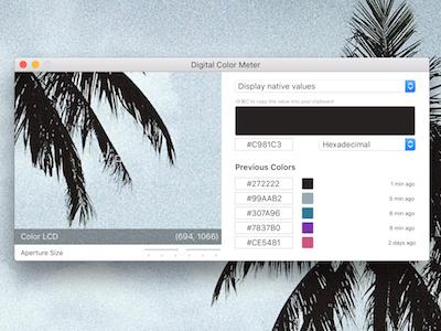 The Digital Color Meter product design ux design ui