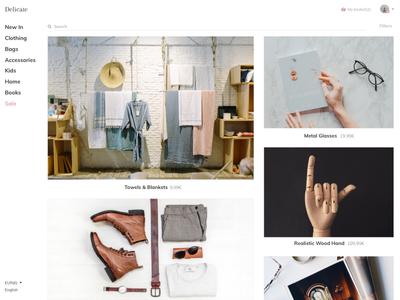 Delicate design ux ui shopping online