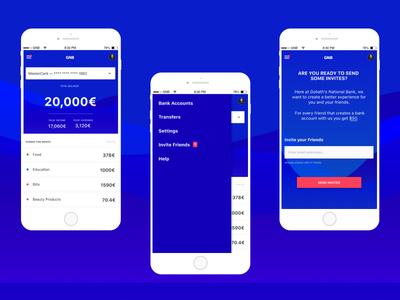 Goliath National Bank Application ux design ui design