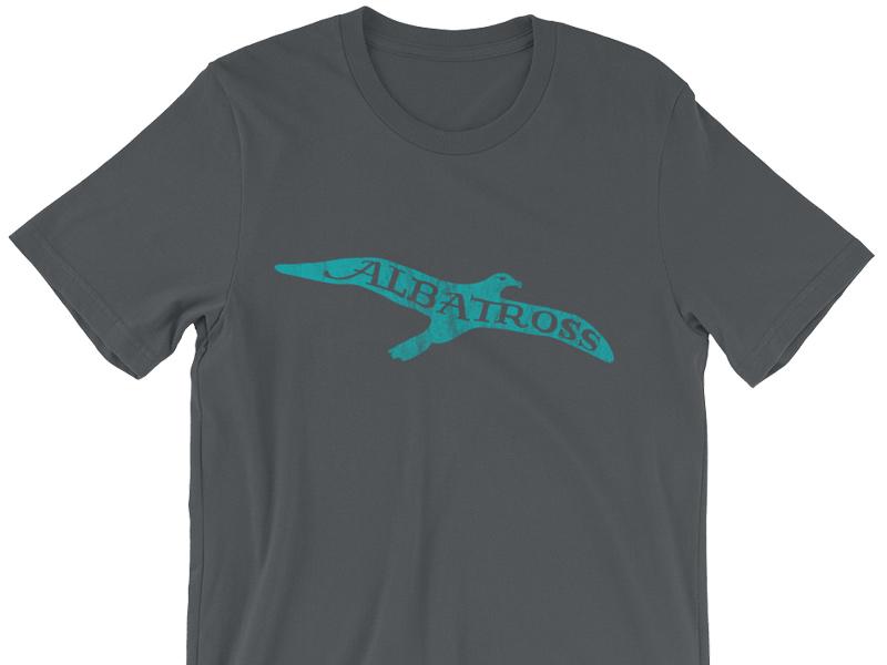 Albatross graphic t-shirt teal bird albatross shirt t-shirt