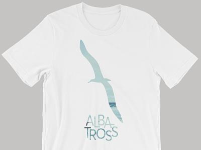 white albatross shirt reversed photo graphic sea shirt albatross