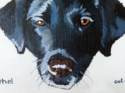 ethel the dog portrait painting dog
