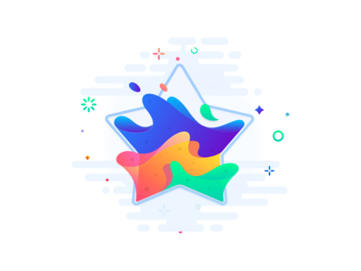 Fantastic Star colourful johnyvino water vector universes transparency space illustration hexagon gradients glass drops colors