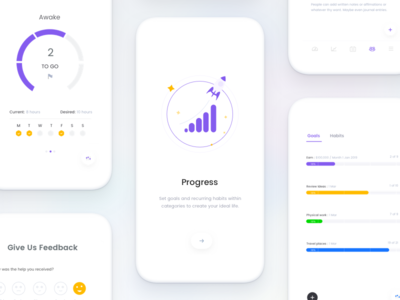 #11 Invisible series- Goal and Progress app johnyvino todo goal statistics profile onboarding mobile ios progress app ai