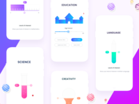 Beautiful Education app johnyvino signup signin register principle mobile login ios intro interaction illustration gif