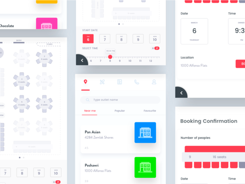 Restaurant Booking System By Johny Vino Dribbble - Table booking system