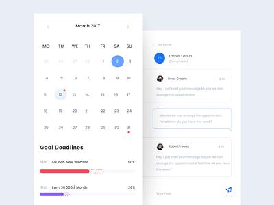 Goals iOS app android ios blue progress target todo goal ux ui minimal clean