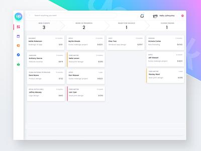 Upworks app dashboard freelance upwork website ux ui webapp