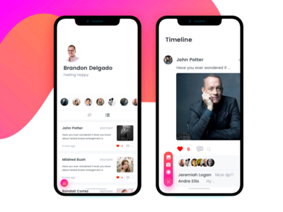 Timeline button interaction