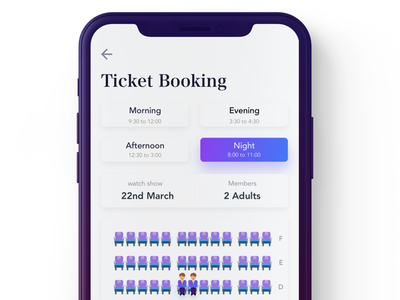 Book seats tickets ticketing select seats seating row reserved plan checkout booking book available