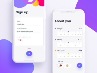 Signup and Forms ux ui tickets send mobile list ios friends signup contact app