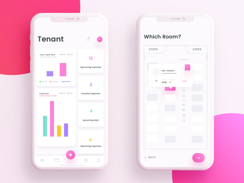 Tenant Management ui tenant setting ios minimal landlord house room features dashboard account